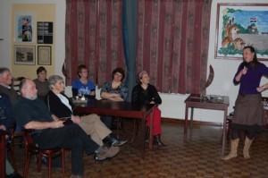 Sandra Visscher informeert bewoners van Scherpenzeel en Munnekeburen