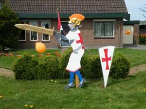 Ook bij huis was ridder Grietje te zien